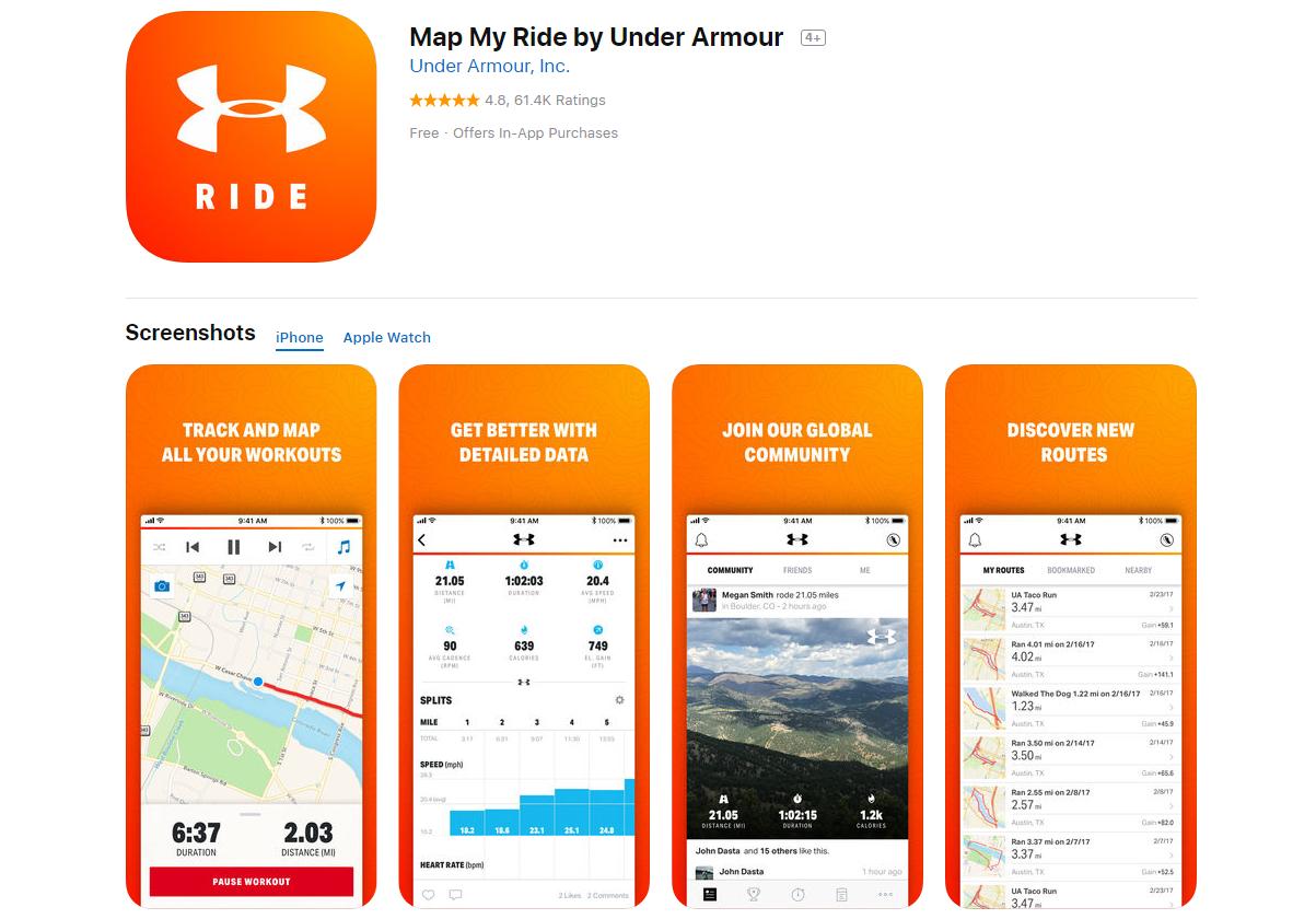 MAPMYRIDE: aplicaciones para los amantes de la bici