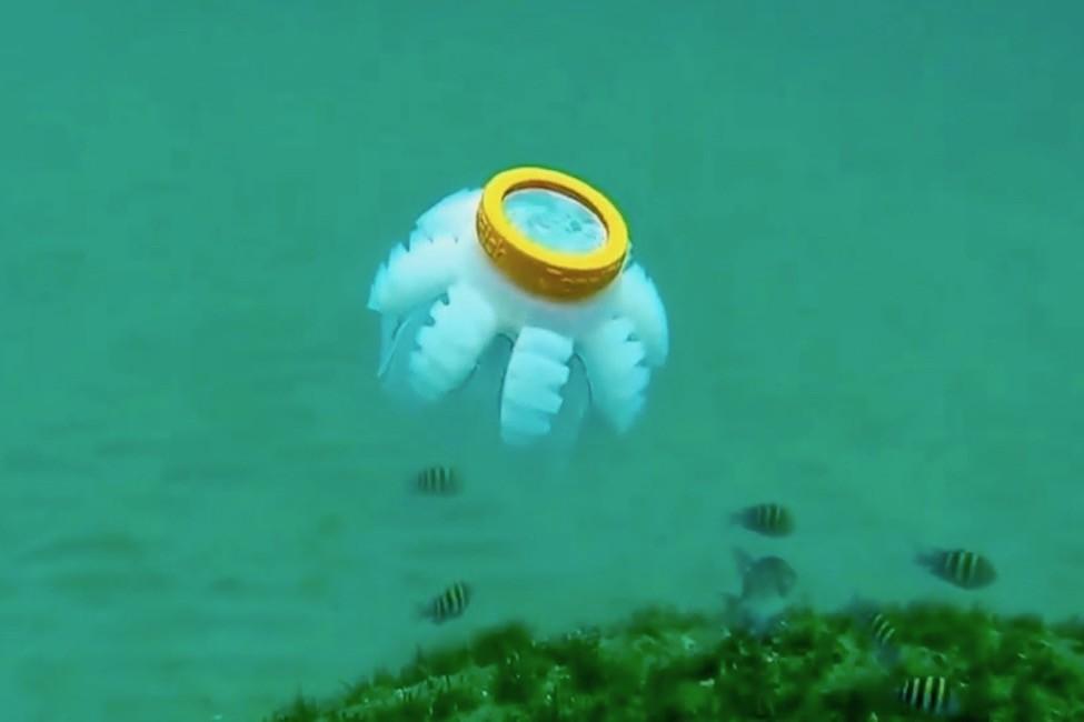 Estos biorobots imitan los movimientos de las medusas.
