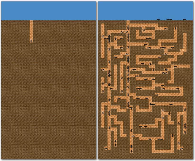 juego idle hormigas hormiguero