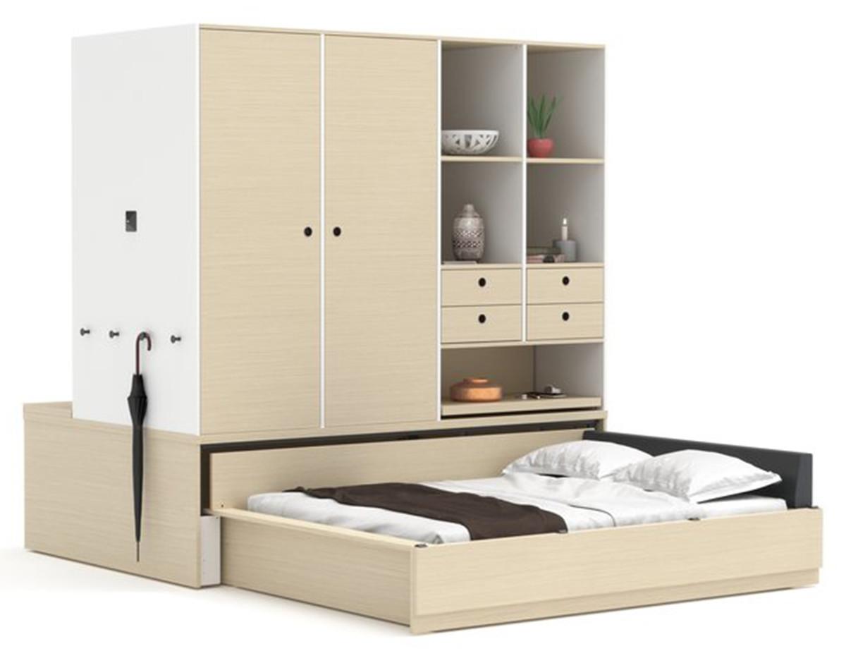 tecnologia muebles ori modulares cama dormitorio