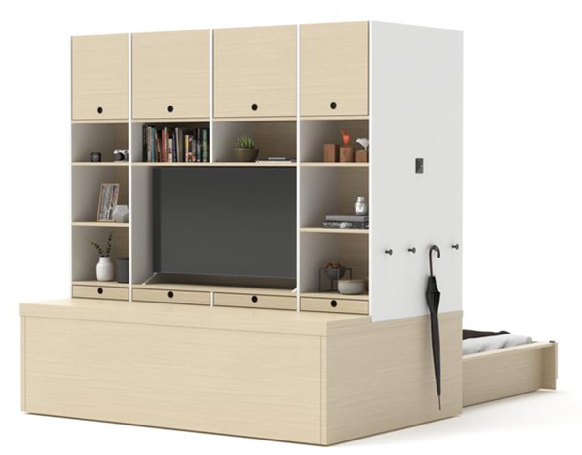 tecnologia muebles ori modulares salon estudio
