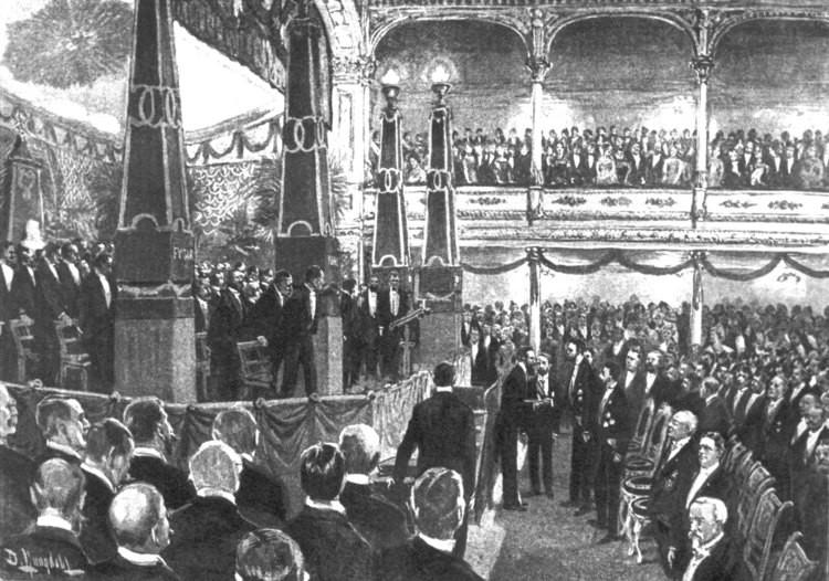 Primera ceremonia del Premio Nobel en 1901