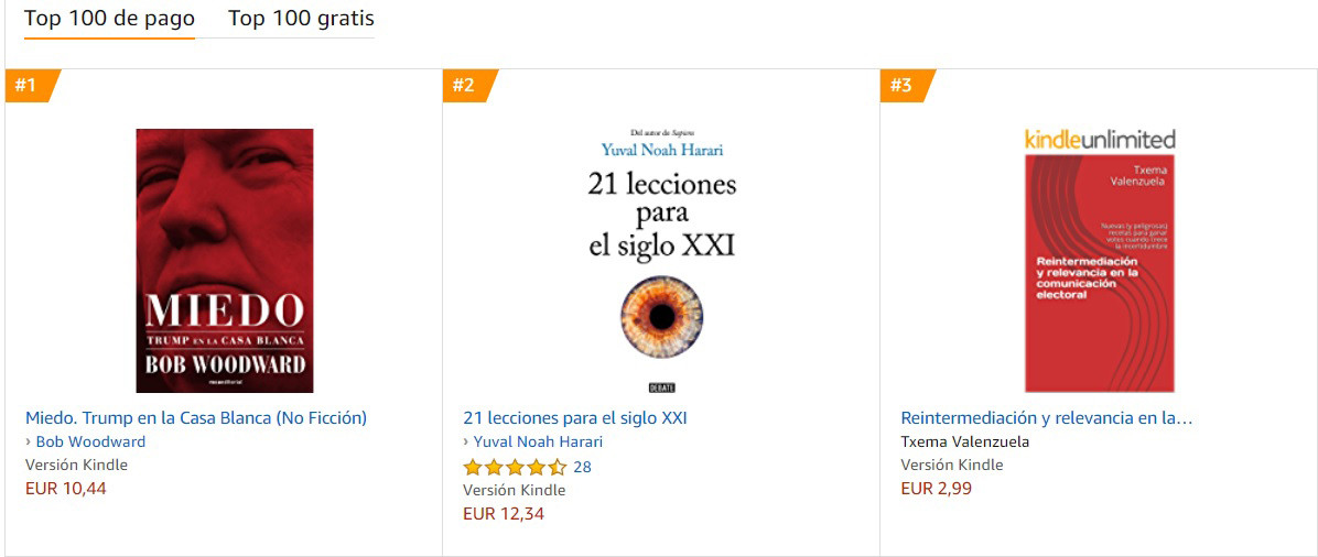 Amazon Kindle Txema Valenzuela