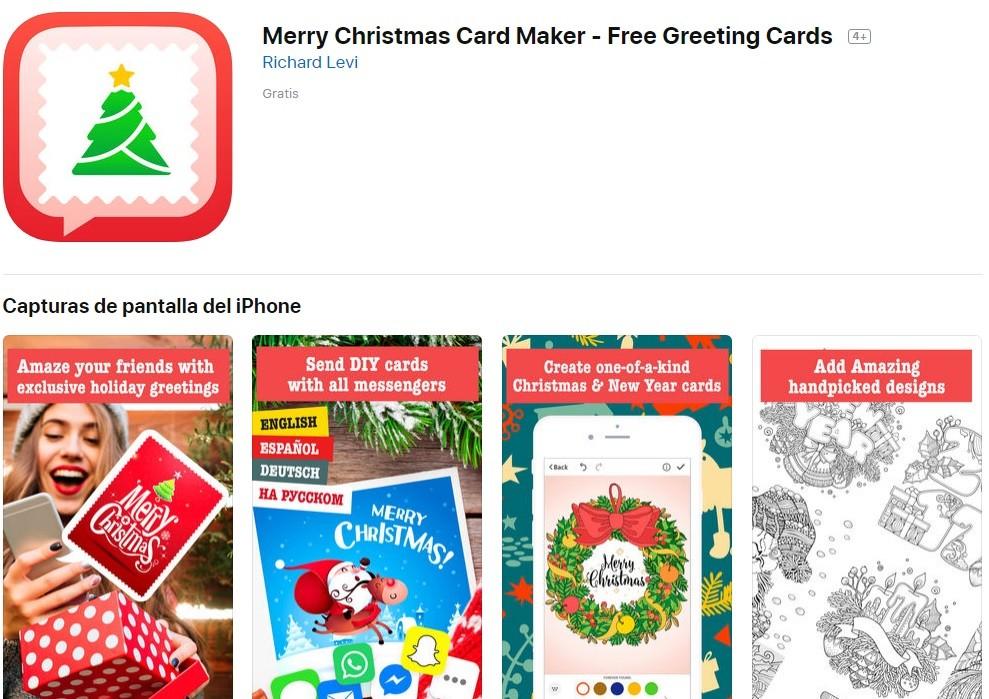 App para fotos Navidad