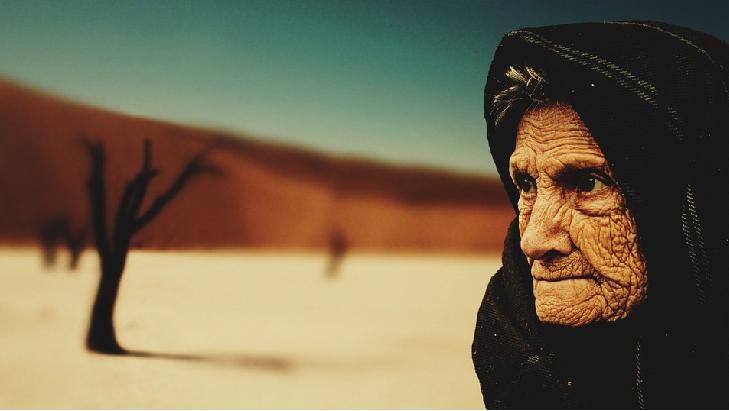 Imagen anciana: zonas azules de La Tierra