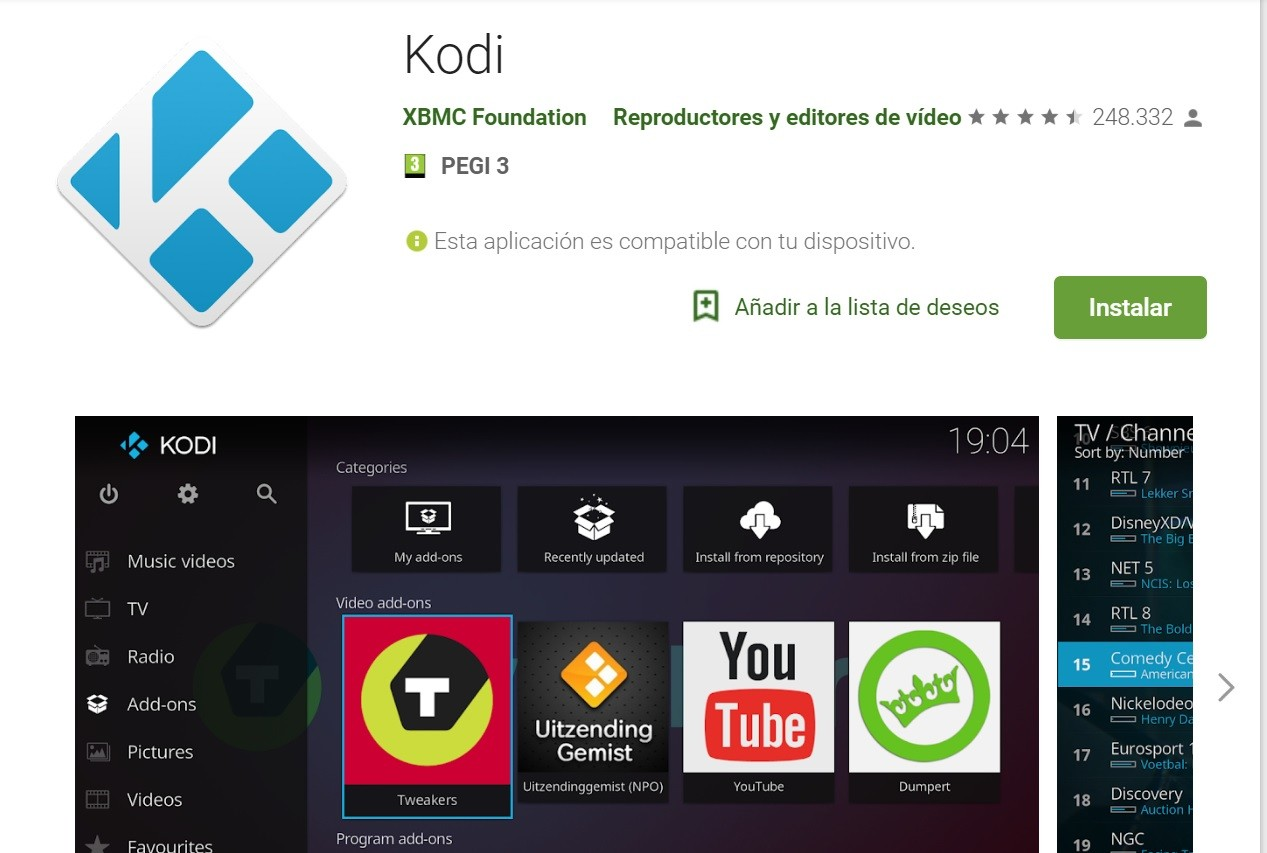 kodi-para android-tv