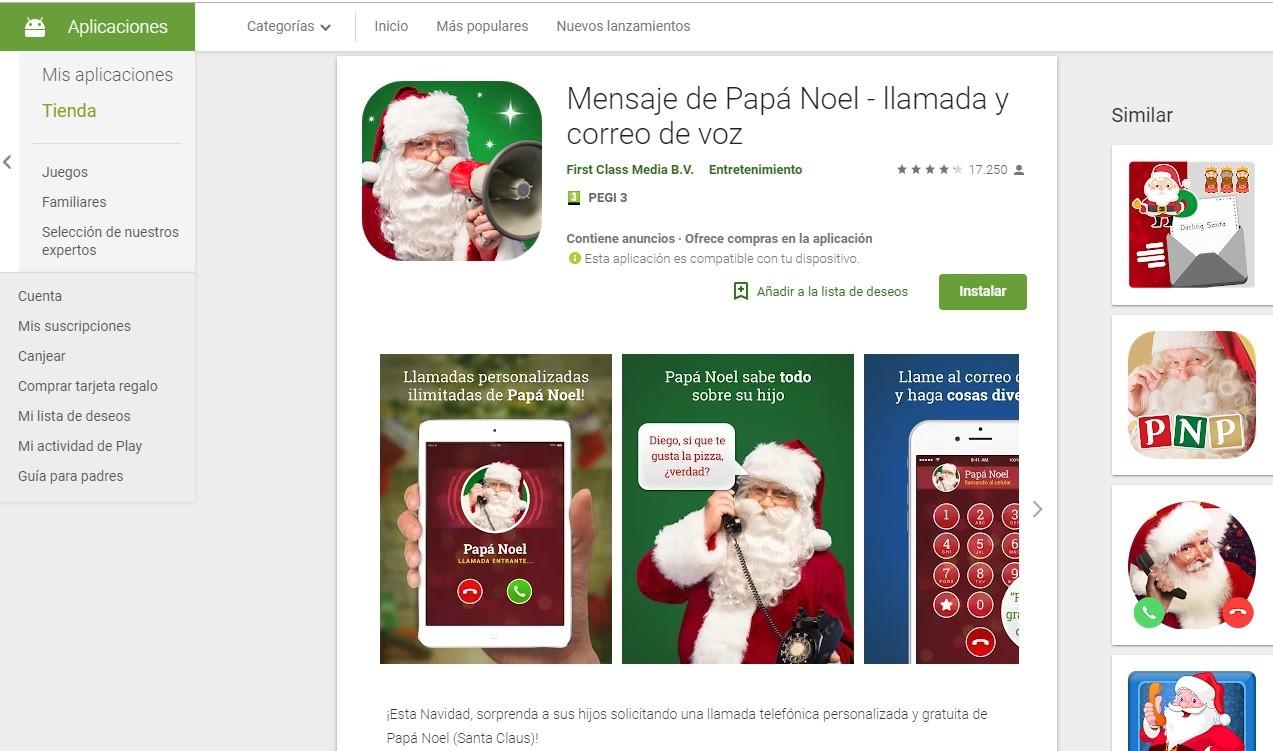 Recibe un mensaje de Papá Noel