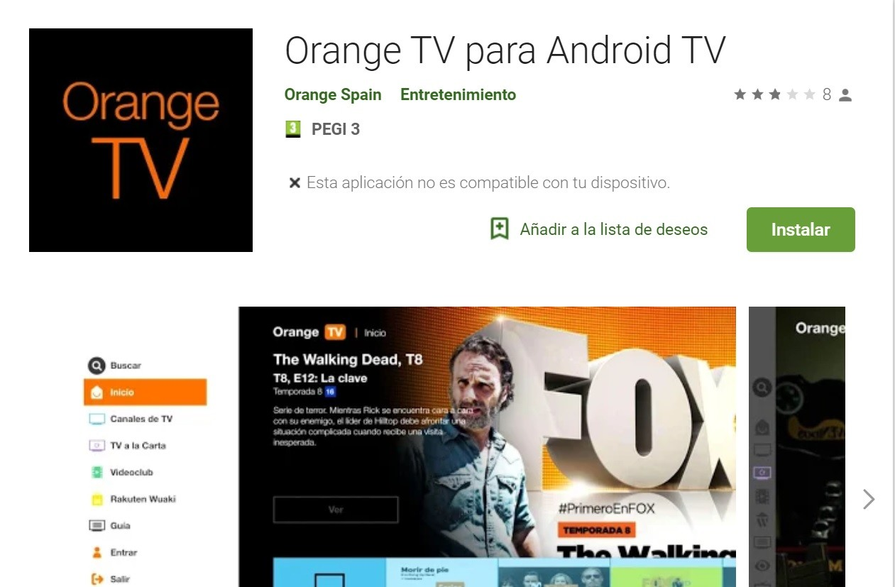 Orange TV para Android TV