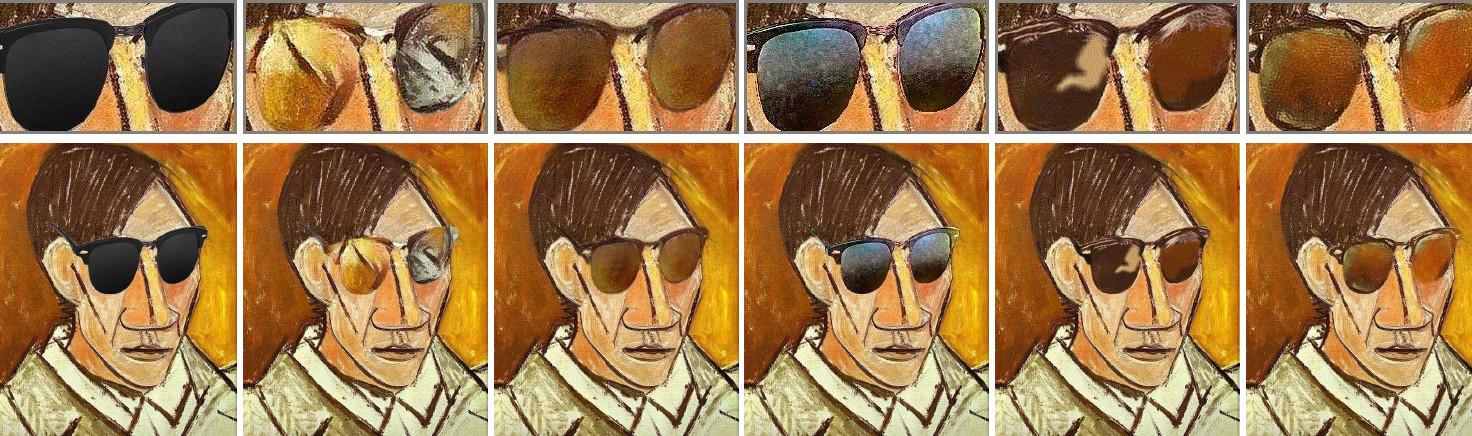 Picasso con gafas de sol