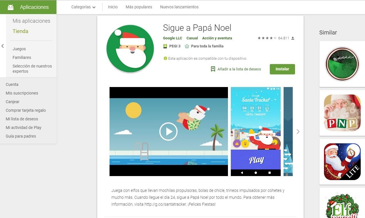 Una app para seguir el viaje de Papá Noel en Navidad