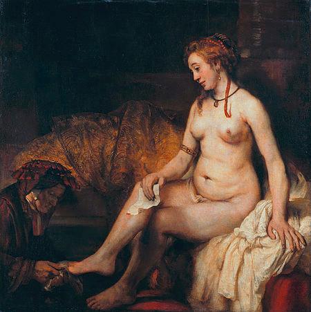 Rembrandt. Betsabé con la carta de David