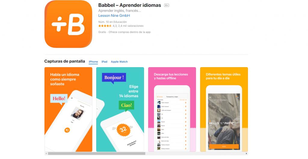 Babbel: apps para aprender idiomas