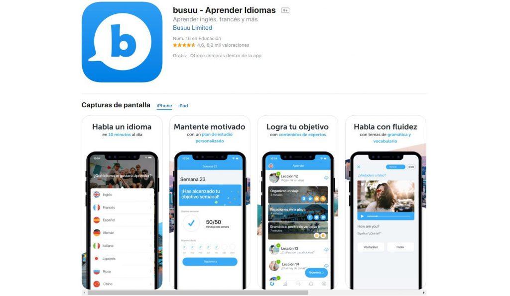 Busuu: apps para aprender idiomas