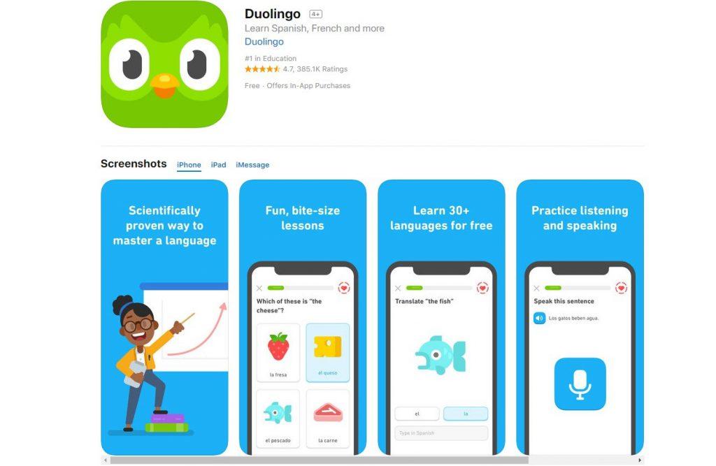 Duolingo: apps para aprender idiomas