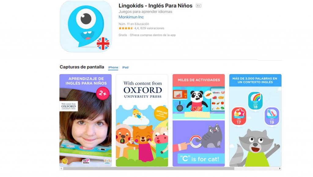Lingokids: apps para aprender inglés