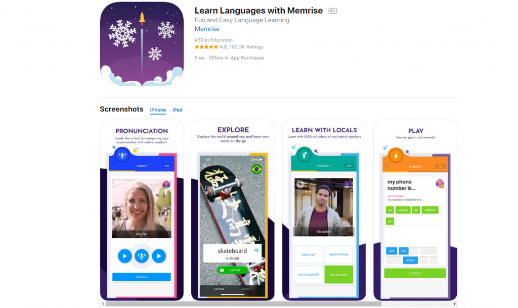 Memrise: apps para aprender idiomas