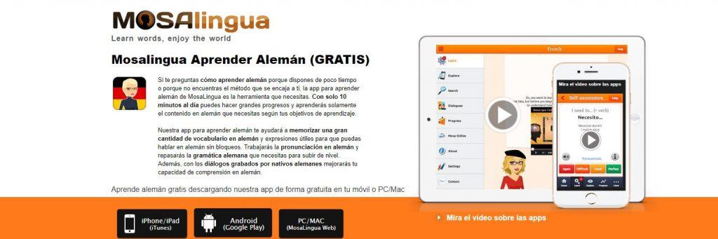 Mosalingua: apps para aprender idiomas
