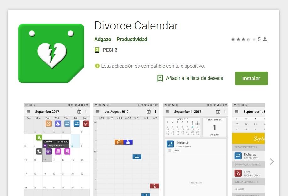 Un calendario para el divorcio