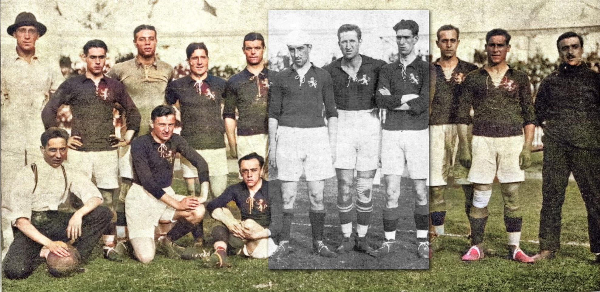 seleccion espanola 1920 blanco y negro a color