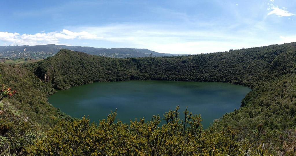 Laguna de Guatavita, que inspiró la leyenda de el Dorado