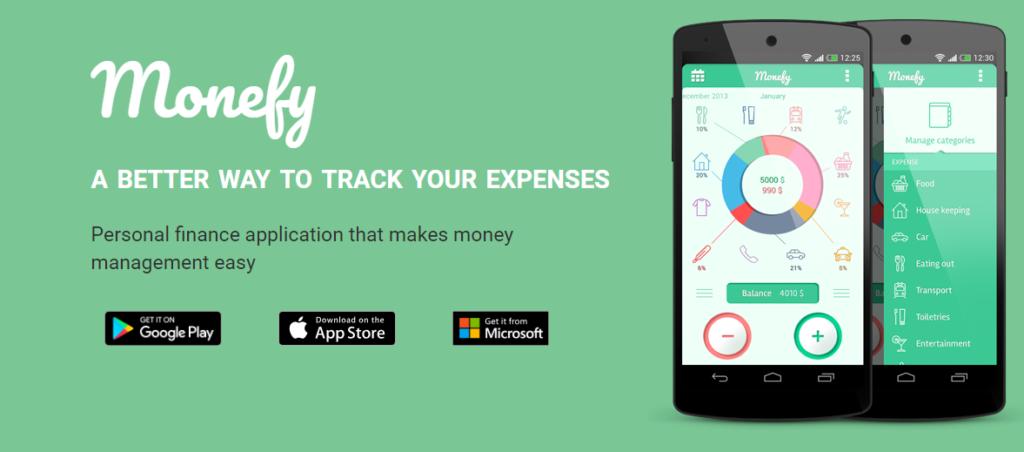 Aplicación Monefy para ahorrar dinero