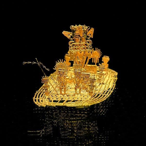 La balsa muisca puede verse en el Museo del Oro de Bogotá.