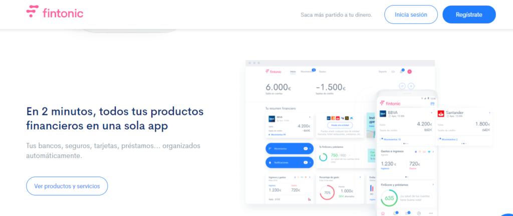 App Fintonic, finanzas personales