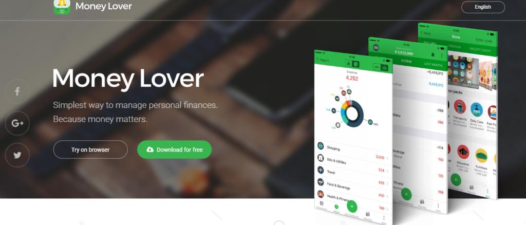 Aplicación Money Lover para ahorrar dinero
