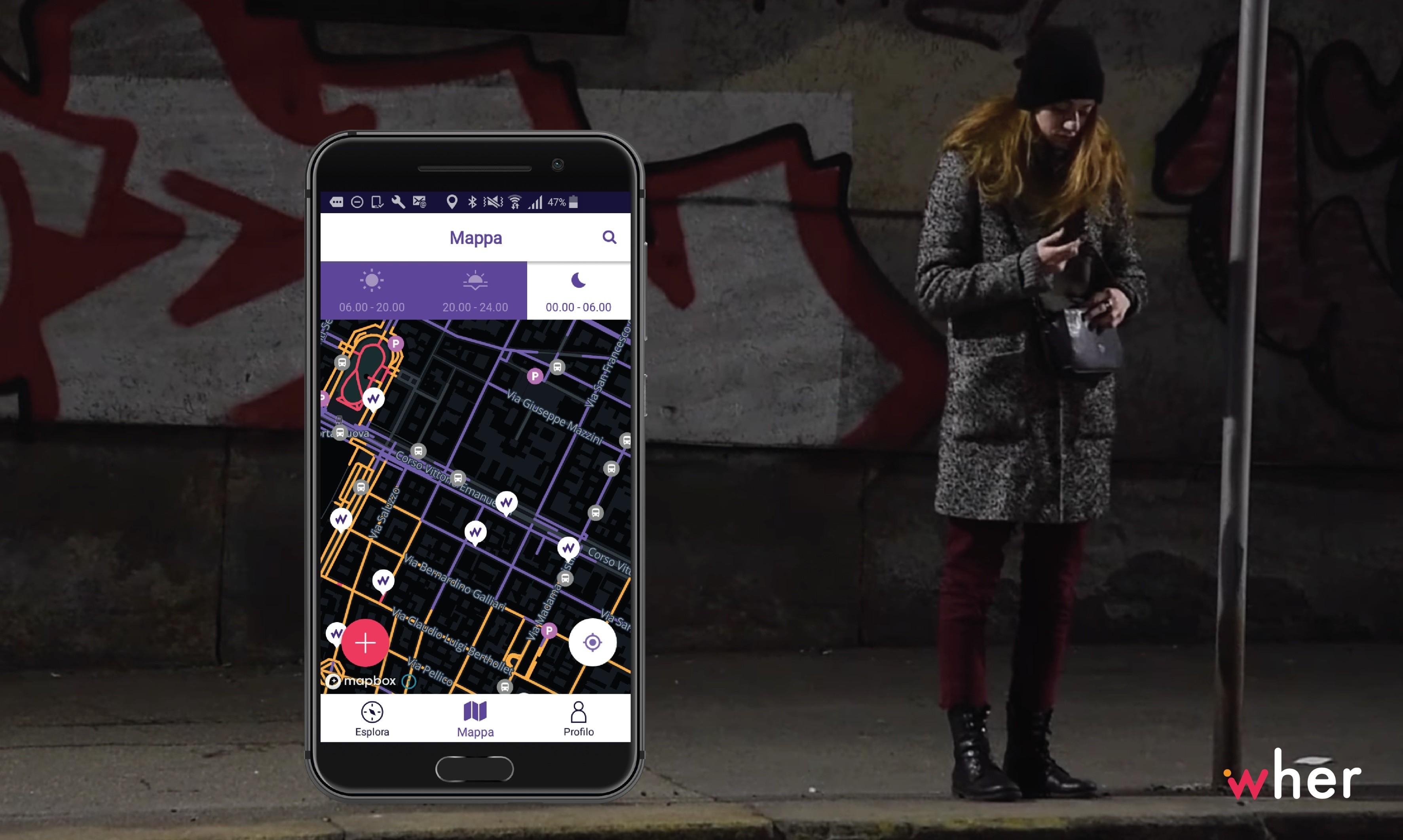 Wher: la aplicación que aconseja a las mujeres las calles más seguras de la ciudad