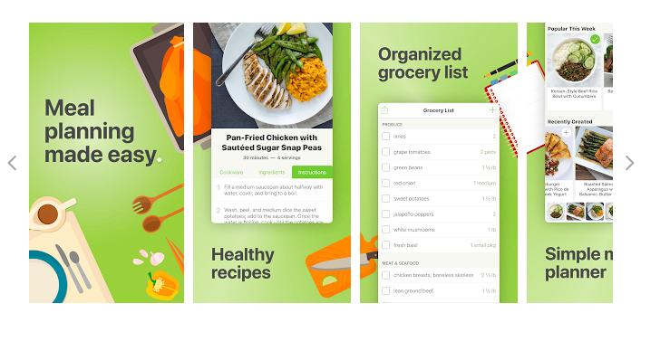 MEALIME, una aplicación para preparar menús de comida para la semana
