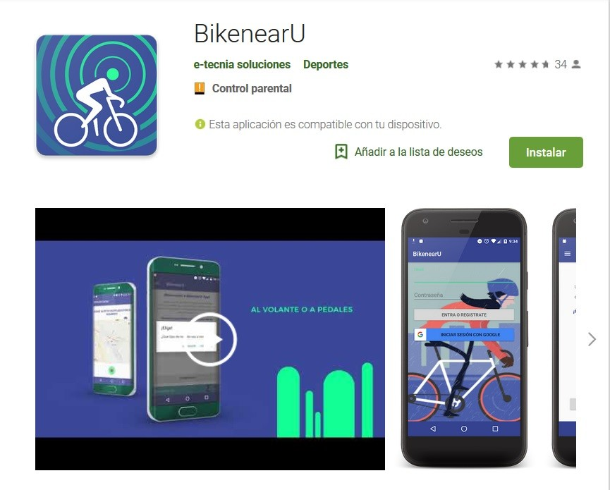 Bikenearu, para evitar accidentes