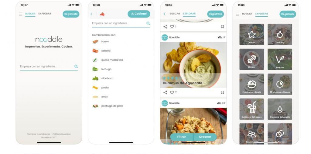 NOODLE: RECETAS SANAS Y FÁCILES: apps para preparar menús semanales