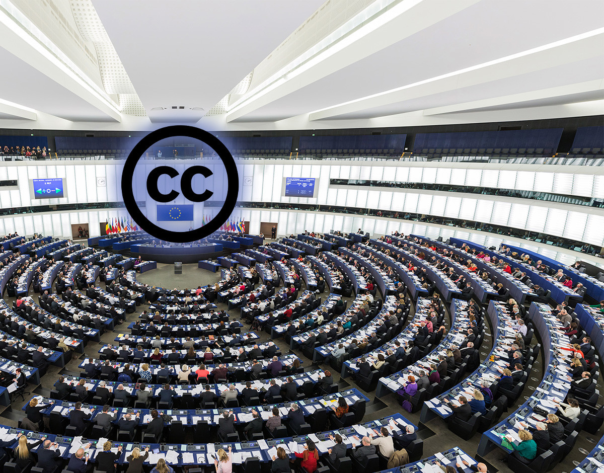 parlamento europeo comusion creative commons