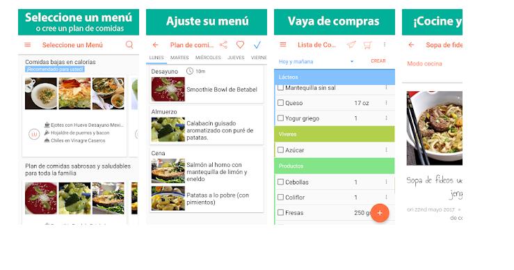 Apps para perder peso lista de la compra