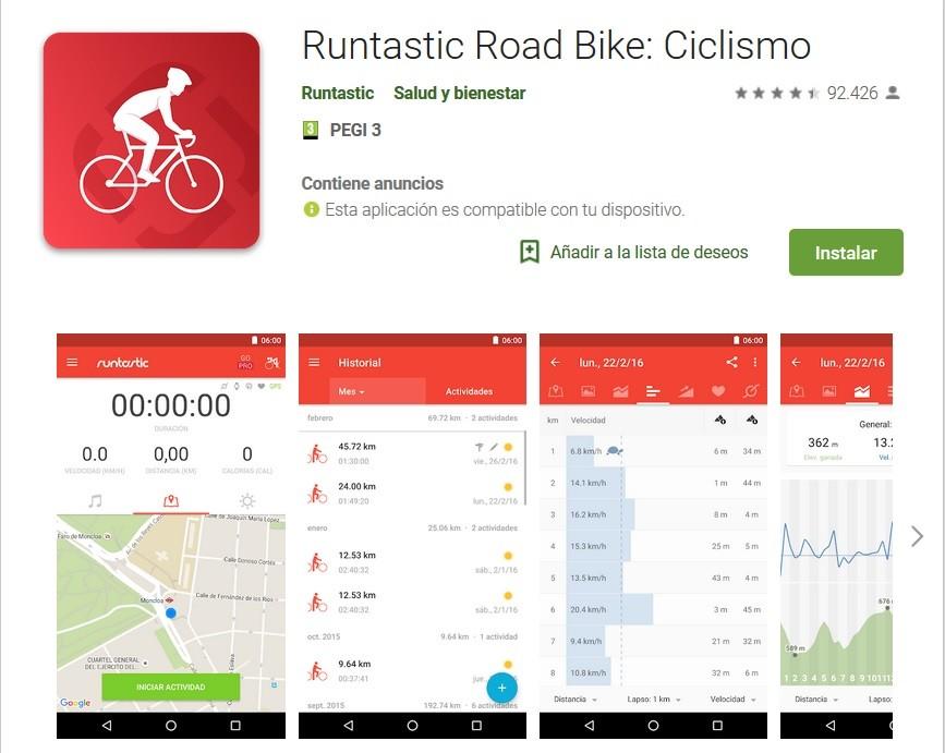 Runtastic, una app para ciclistas