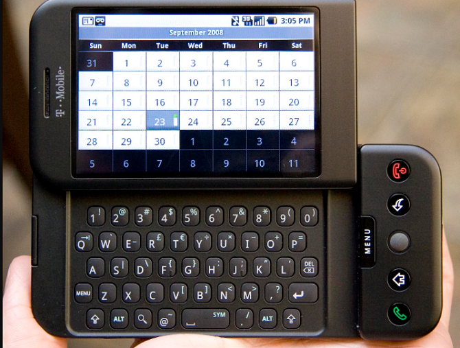 HTC Dream, el primer dispositivo con Android - Historia de la telefonía