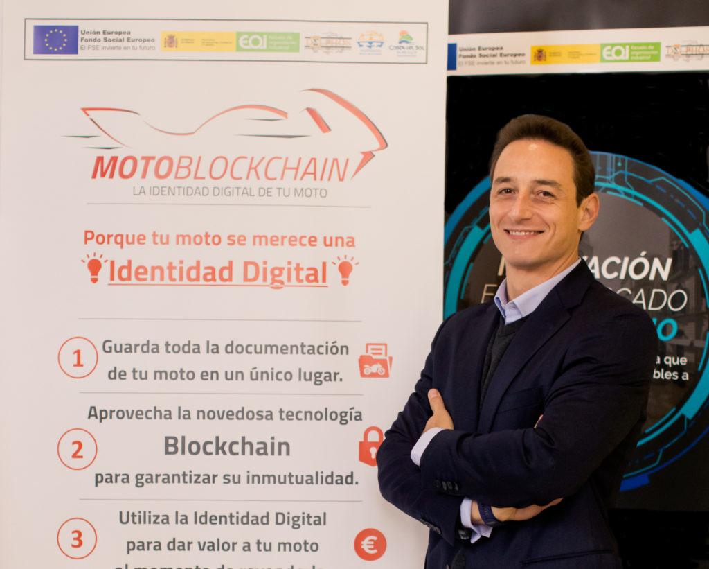 Simone Birghina, de Motoblockchain, la plataforma de blockchain para motos