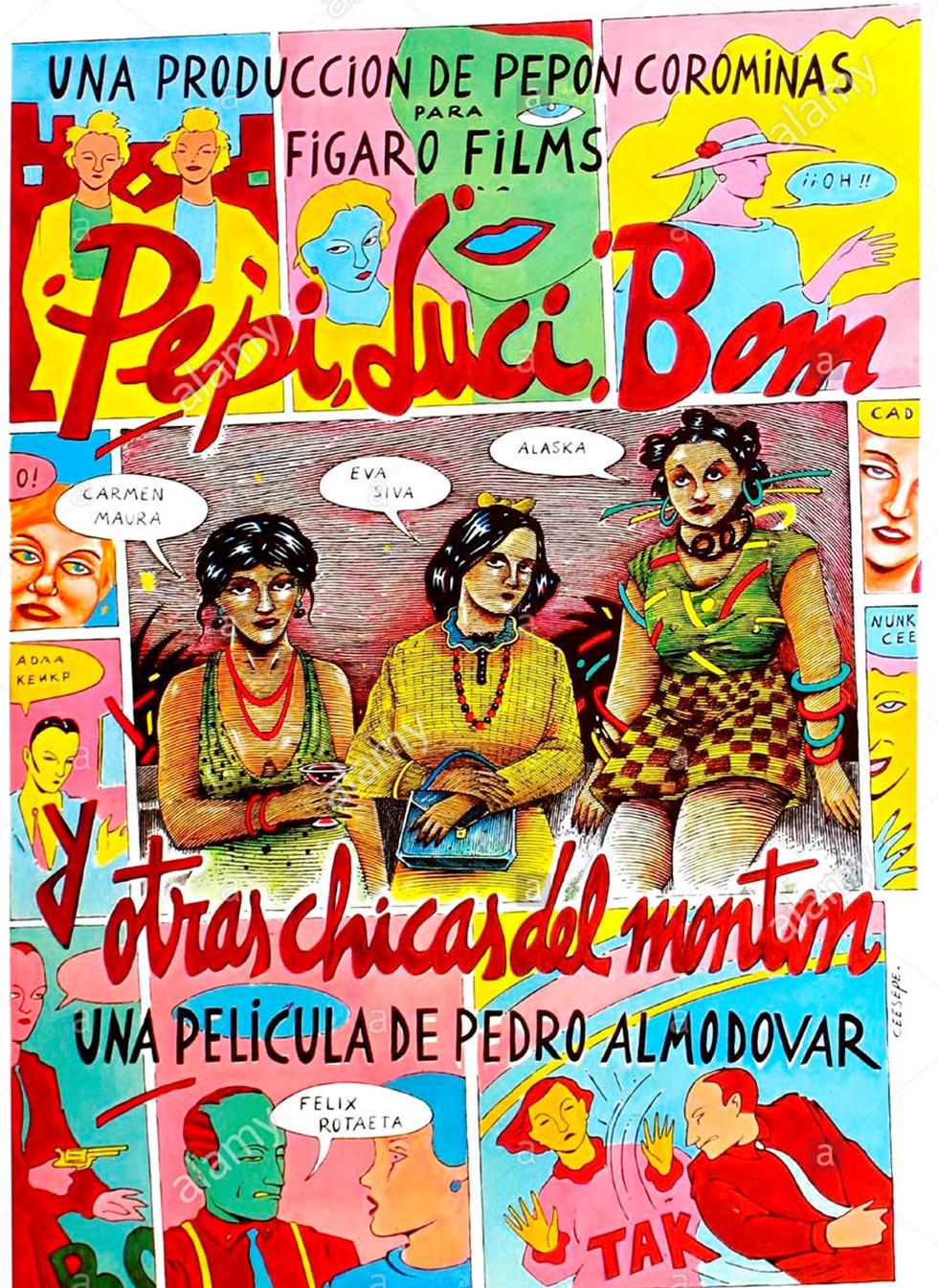 Cartel de Ceesepe para el filme de Pedro Almodóvar, Pepi, Luci, Bom y otras cgicas del montón