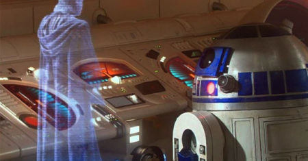 star wars holograma