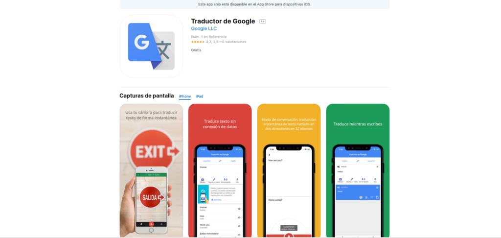 traductores de idiomas: google traductor