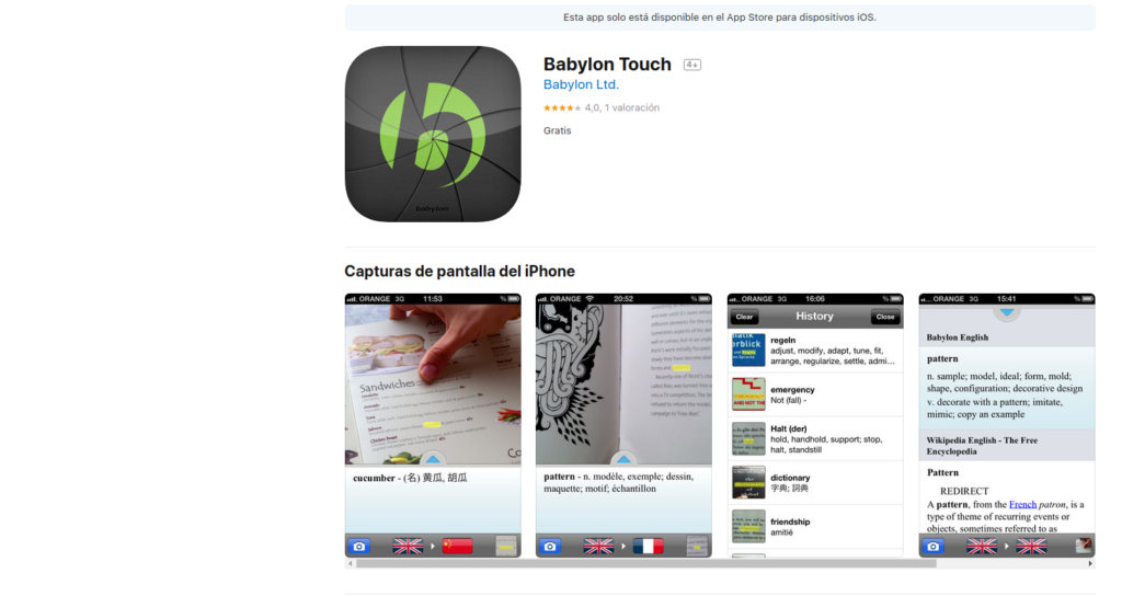 app babylon touch traductor