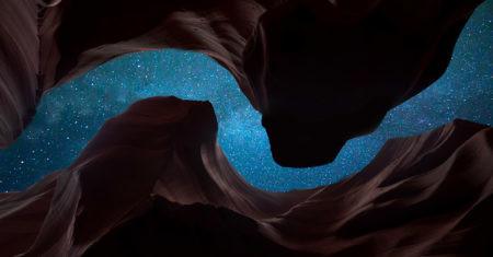estrellas en un cañón