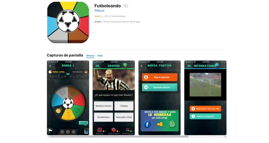 Futboleando, aplicación para seguir la liga de fútbol española