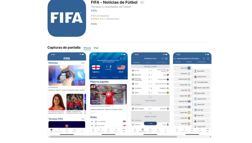 FiFA, aplicaciones para seguir la liga de futbol