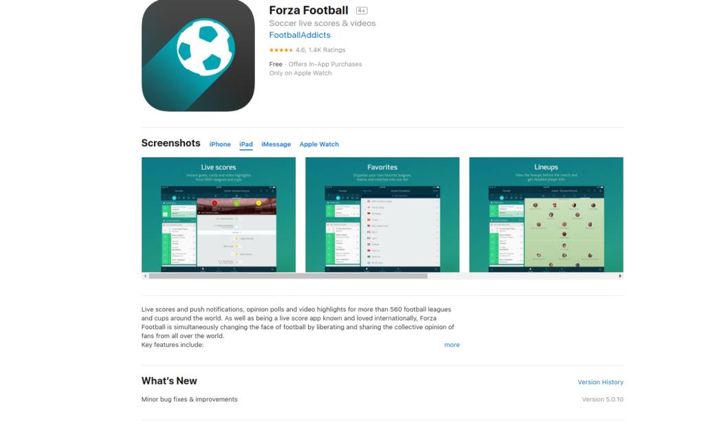 Forza Football, aplicación para seguir la liga de fútbol española