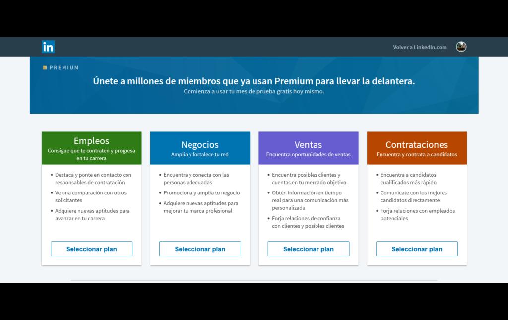 planes de linkedin premium