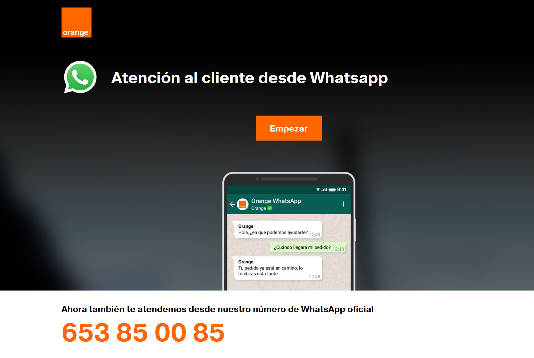 atención al cliente en Whatspp