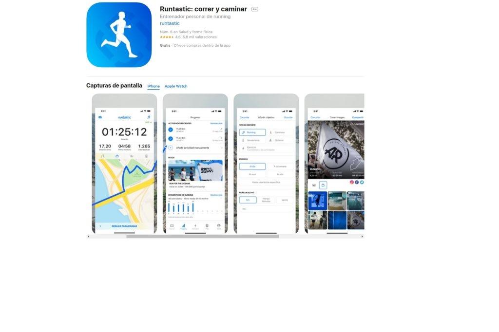 RUNTASTIC: aplicaciones para mantenerse en forma