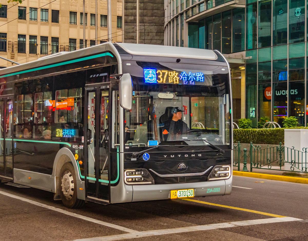 autobus inteligencia artificial ruta shanghai