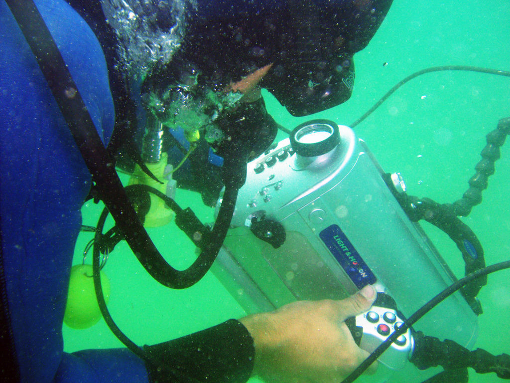 Carlos León Amores bajo el agua